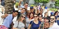 Visita de cubanitos al estadio de los Marlins, en Miami