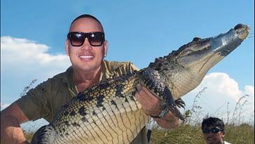 jacob forever se las vio con un peligroso cocodrilo