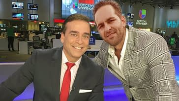 Oliver Zamora junto a Ambrosio Hernández